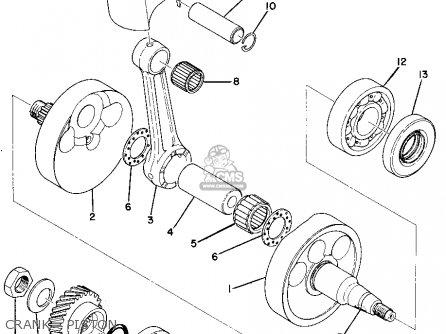 Yamaha MX360 1973 USA parts lists and schematics