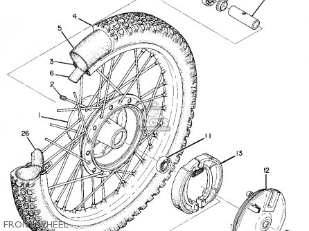 Yamaha Mx360 1973 Usa parts list partsmanual partsfiche