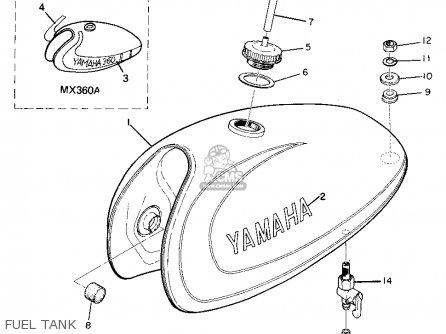 Yamaha Mx360 1973/1974 parts list partsmanual partsfiche