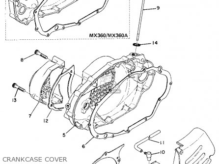 Yamaha MX360 1974 USA parts lists and schematics