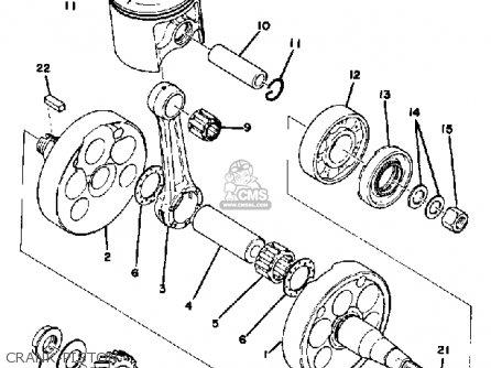 Yamaha Mx400 1975 Usa parts list partsmanual partsfiche