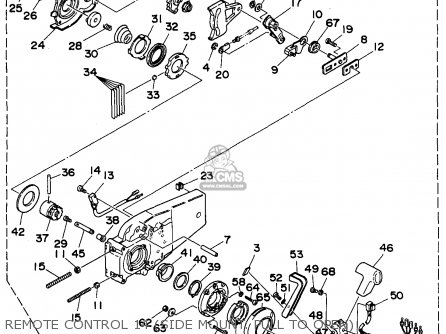Yamaha Outboard Rigging 1994-1996 parts list partsmanual