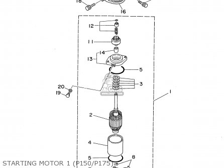 Yamaha P150/175/200TRU 1995 parts lists and schematics
