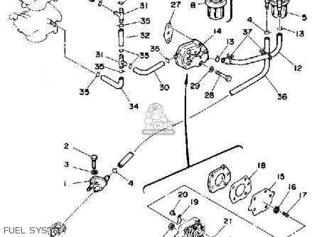 Yamaha Pro 50g 1988 parts list partsmanual partsfiche