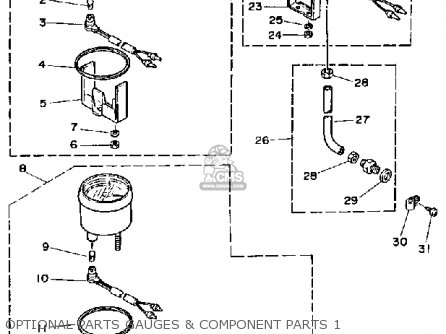 Yamaha PRO 50G 1988 parts lists and schematics
