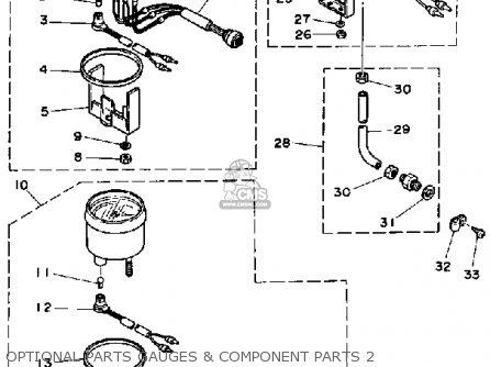 Yamaha Pro 50h 1987 parts list partsmanual partsfiche
