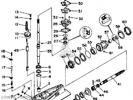 Yamaha PRO 50LF 1989 parts lists and schematics