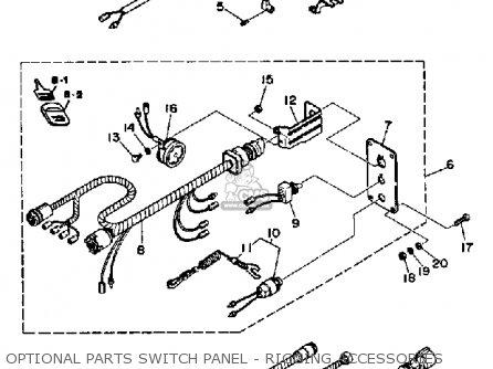 Yamaha Pro 50lf 1989 parts list partsmanual partsfiche