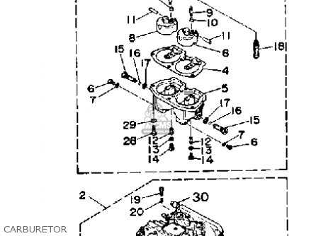 Yamaha Pro V 150f 1989 parts list partsmanual partsfiche