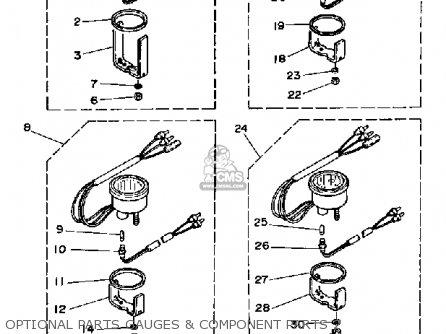 Yamaha Pro V 150f 1989 parts list partsmanual partsfiche