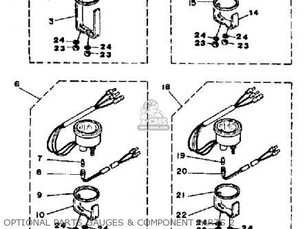 Yamaha Pro V 150j 1986 parts list partsmanual partsfiche