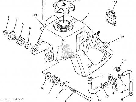 Yamaha Pw50-1 1997 (v) Usa parts list partsmanual partsfiche