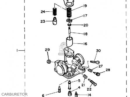 Yamaha PW50 1983 (D) USA parts lists and schematics