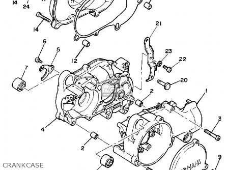Yamaha Pw50 1983 (d) Usa parts list partsmanual partsfiche