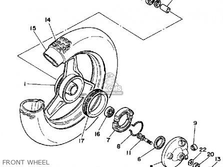 Yamaha PW50 1985 (F) USA parts lists and schematics