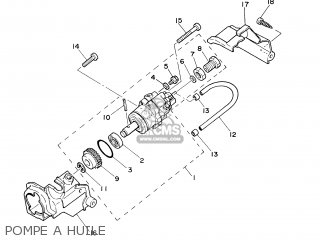 Yamaha PW50 2003 5PG6 FRANCE 1B5PG-351F1 parts lists and