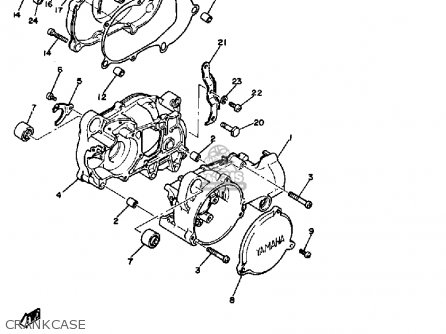 Yamaha Pw50 Yzinger 1981 (b) Usa parts list partsmanual