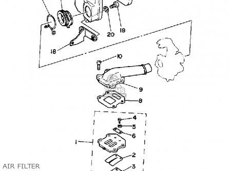 Yamaha Pw50a Y-zinger 1990 parts list partsmanual partsfiche