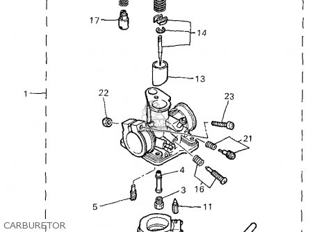 Yamaha Pw G Carburetor Mediumyau A Cf E on 2001 Buick Lesabre Serpentine Belt Diagram