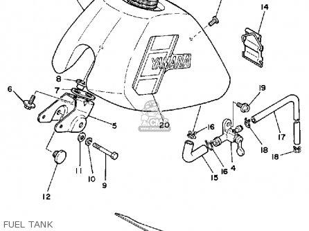 Yamaha Pw50k 1983/1985 parts list partsmanual partsfiche