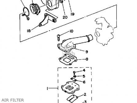 Yamaha Pw50s 1986-1987 parts list partsmanual partsfiche