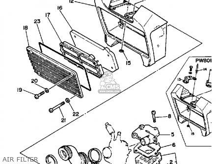 Yamaha Pw80 Yzinger 1983 (d) Usa parts list partsmanual