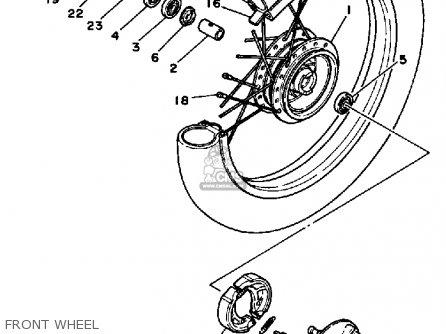 Yamaha Pw80 Yzinger 1984 (e) Usa parts list partsmanual