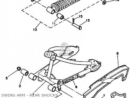 Yamaha PW80 YZINGER 1984 (E) USA parts lists and schematics