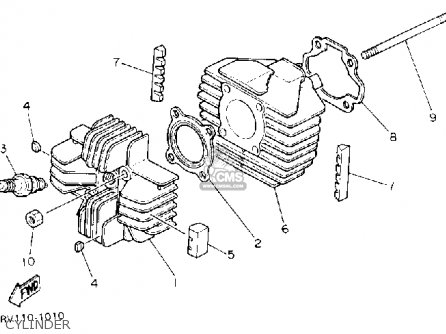 Yamaha Pw80 Yzinger 1992 (n) Usa parts list partsmanual