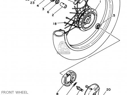 Yamaha Pw80h 1996 parts list partsmanual partsfiche