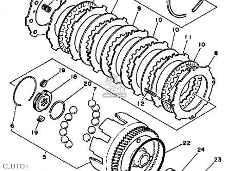 Yamaha Pw80k Y-zinger 1983/1985 parts list partsmanual