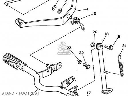 Yamaha Pw80l 1999 parts list partsmanual partsfiche