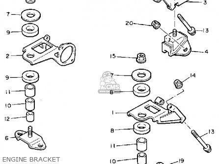 Yamaha Pz480ej Phazer Special 1985 parts list partsmanual