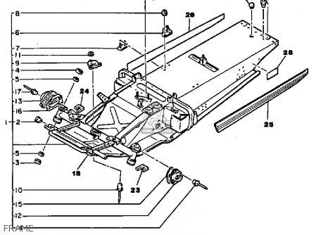 Yamaha Pz480ek Phazer Special 1986 parts list partsmanual