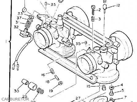 Yamaha Pz480et Phazer 1993 parts list partsmanual partsfiche
