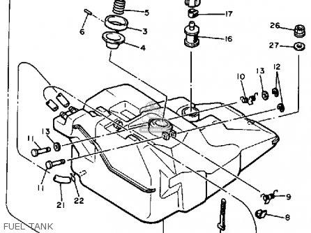 Yamaha Pz480h Phazer 1984 parts list partsmanual partsfiche