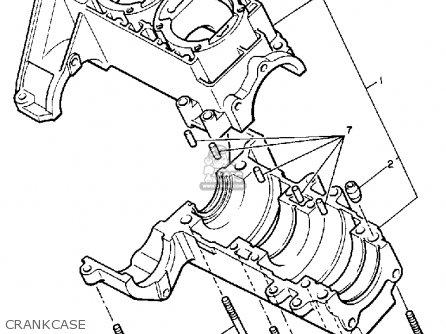 Yamaha Pz480j Phazer 1985 parts list partsmanual partsfiche