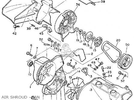 Yamaha Pz480n Phazer 1989 parts list partsmanual partsfiche