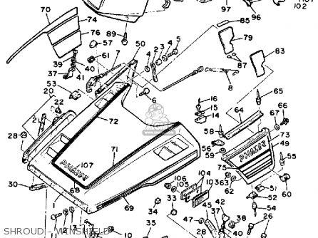 Yamaha PZ480N PHAZER 1989 parts lists and schematics