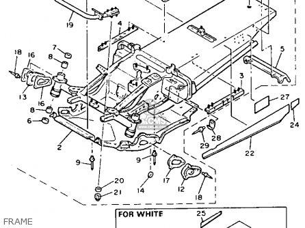 Yamaha Pz480r Phazer 1991 parts list partsmanual partsfiche