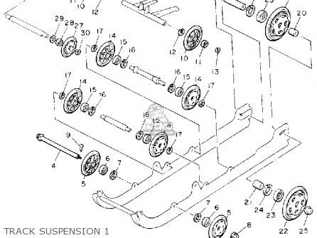 Yamaha Pz480s Phazer 1992 parts list partsmanual partsfiche