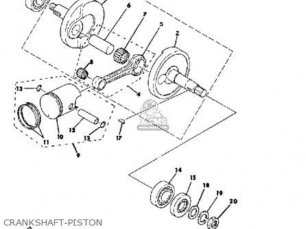 Yamaha Qt50 2g 1980/1981 parts list partsmanual partsfiche