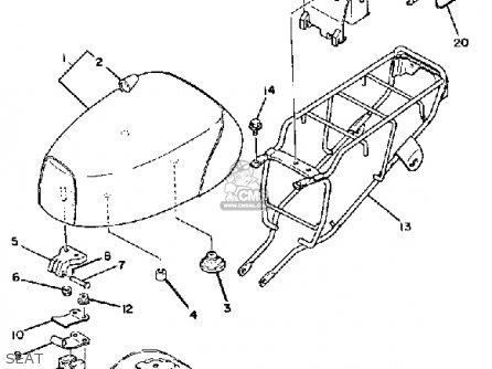 Yamaha Qt50 2h 1980/1981 parts list partsmanual partsfiche