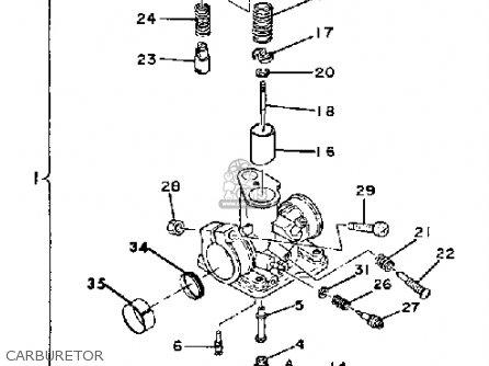 Yamaha QT50 2H 1980/1981 USA parts lists and schematics
