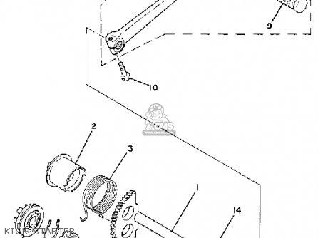 Yamaha Qt50 2h 1980/1981 Usa parts list partsmanual partsfiche
