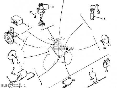 Yamaha Qt50 L 1984/1985 parts list partsmanual partsfiche