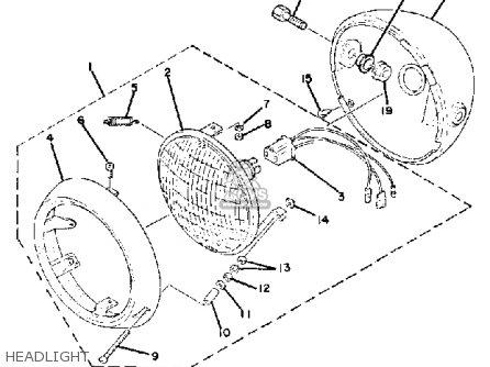 Yamaha Qt50 N 1984/1985 parts list partsmanual partsfiche