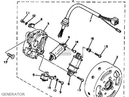 Yamaha QT50 N 1984/1985 USA parts lists and schematics