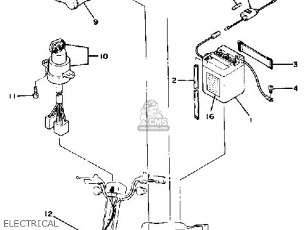 Yamaha Qt50f 1979/1980 Usa parts list partsmanual partsfiche