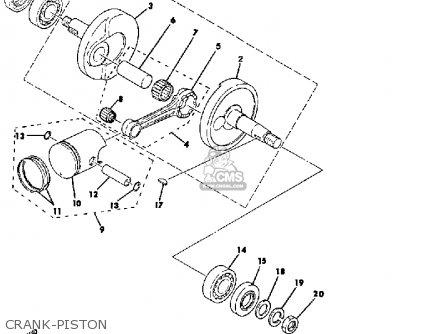 Yamaha Qt50g 1979/1980 Usa parts list partsmanual partsfiche